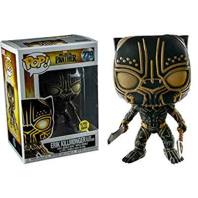 FunKo POP! Marvel Black Panther Erik Killmonger Glow In The Dark Panther Exclusive: Toys & Games