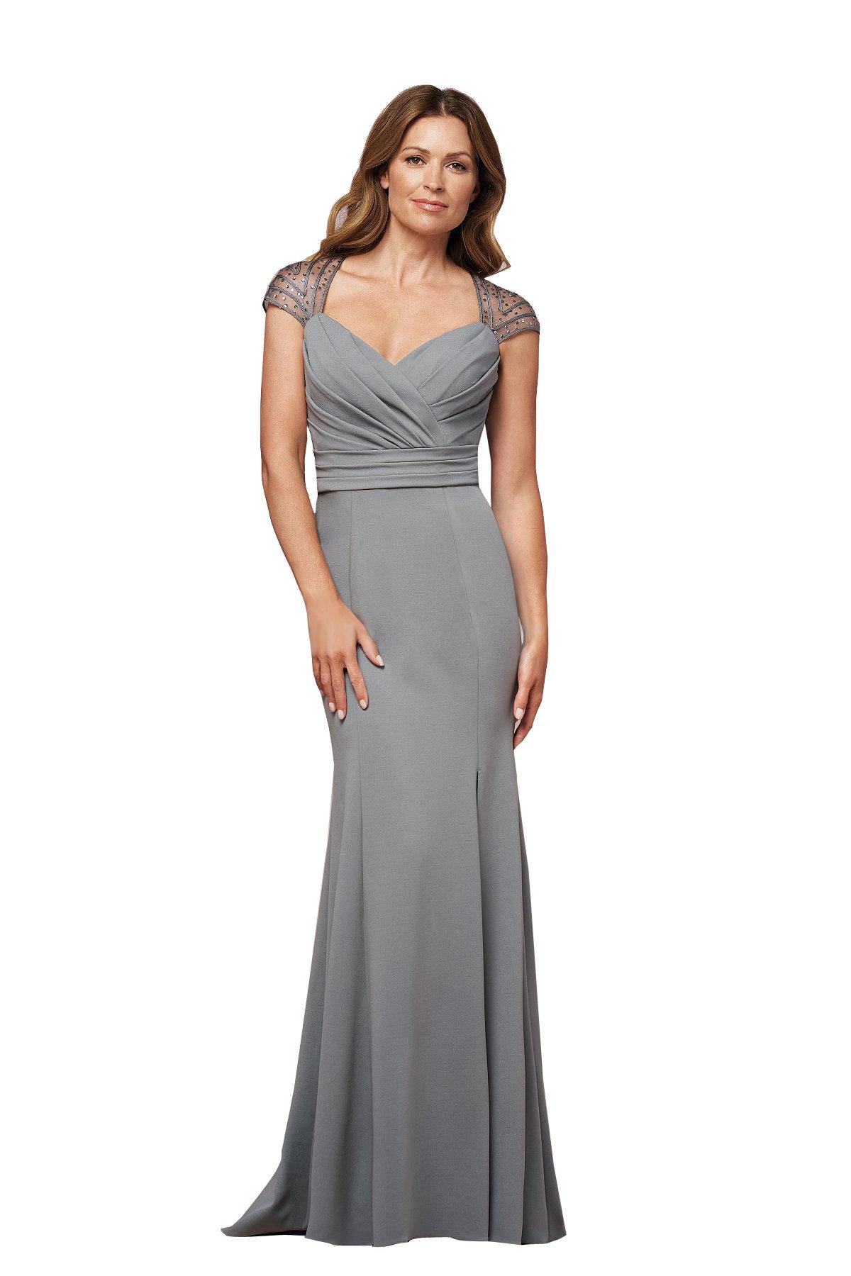 kelaixiang Mother of The Bride Dress Satin Sweet Heart Cap Sleeves Empire Line Evening Dress