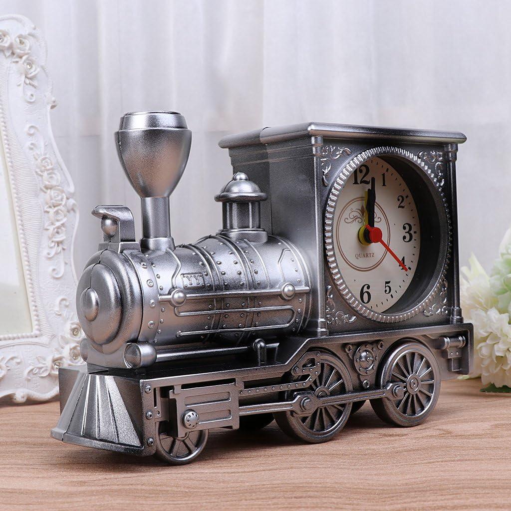 Bronze Slowslient Train Pattern Quartz Analog Quiet Non-ticking ...