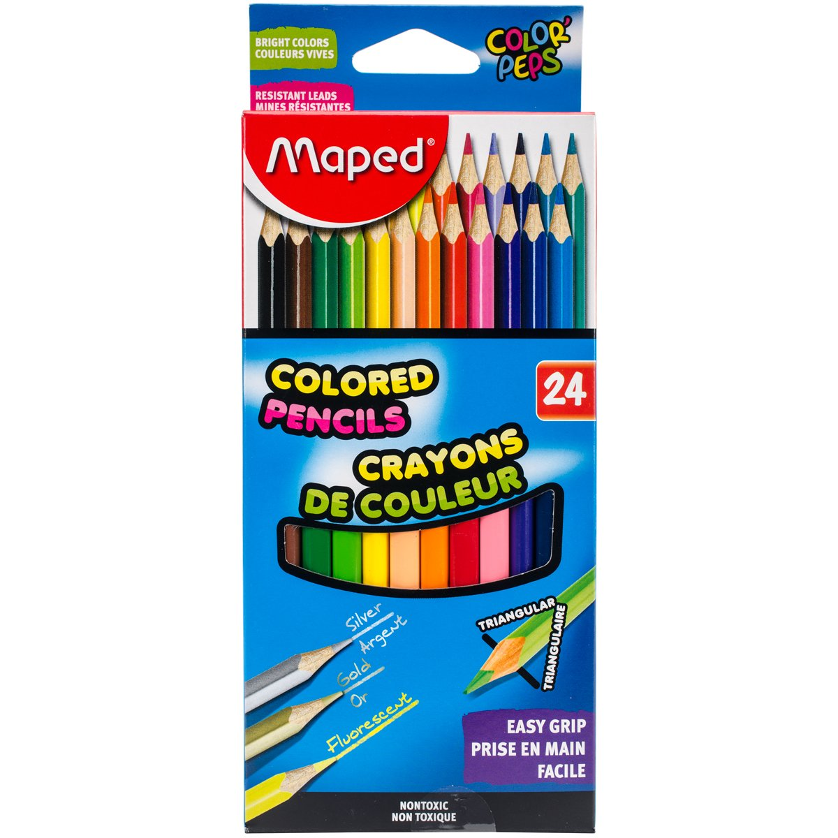Mehrfarbig Sortiert 4-teilig Maped Helix USA Color Peps dreieckig Buntstifte 1 Acryl