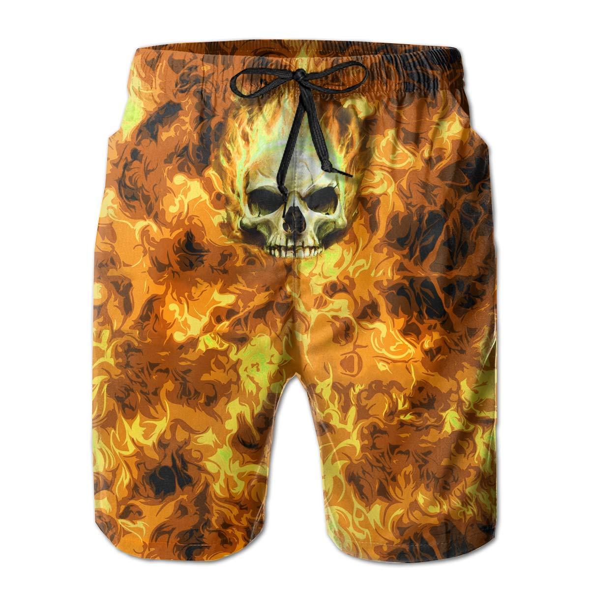 DDYJ FIRE1 Boardshorts Mens Swimtrunks Fashion Beach Shorts Casual Shorts Swim Trunks