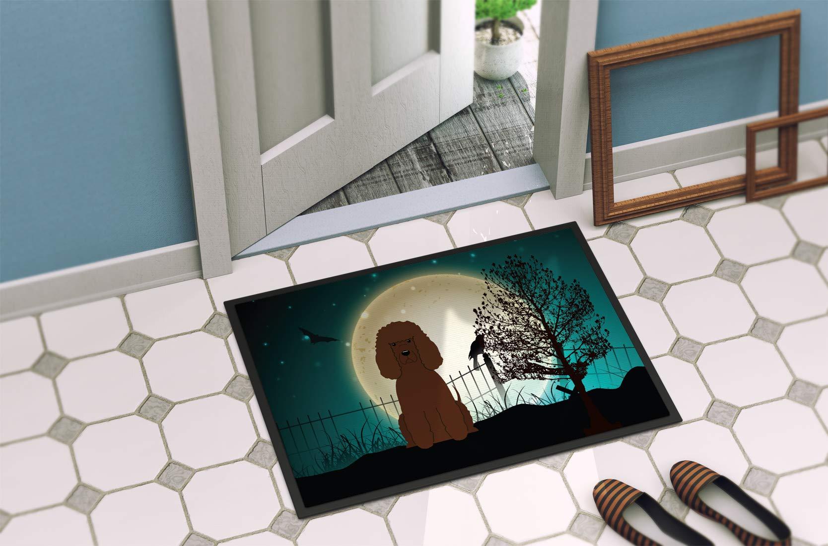 Caroline's Treasures BB2253JMAT Halloween Scary Irish Water Spaniel Indoor or Outdoor Mat 24x36, 24H X 36W, Multicolor 2