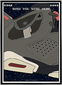 Rob'sTees Custom Space Kicks Sneaker Poster, Sneaker Box Poster, Hype Poster, Kicks Poster, Pop Culture Sneaker Art Wall Decor Streetwear Art (Frame NOT Included) (12x18)