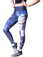 Space Cat 3D Printing Fashion Fitness Pants Yoga Sports Trousers High Stretch Fast Dry Pants For Women