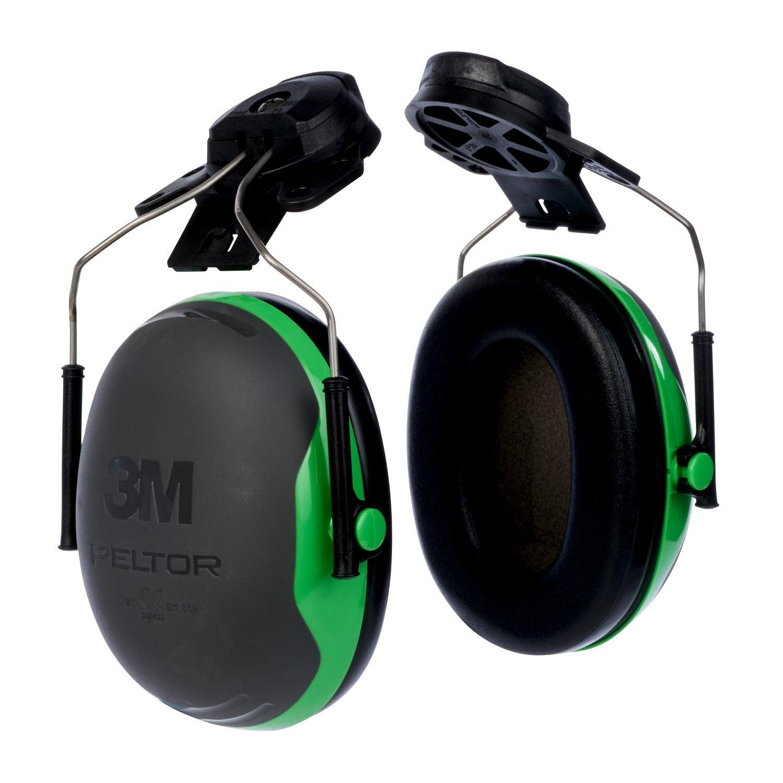 Cap-Mounted Ear Muff, NRR 21, Blk/Grn