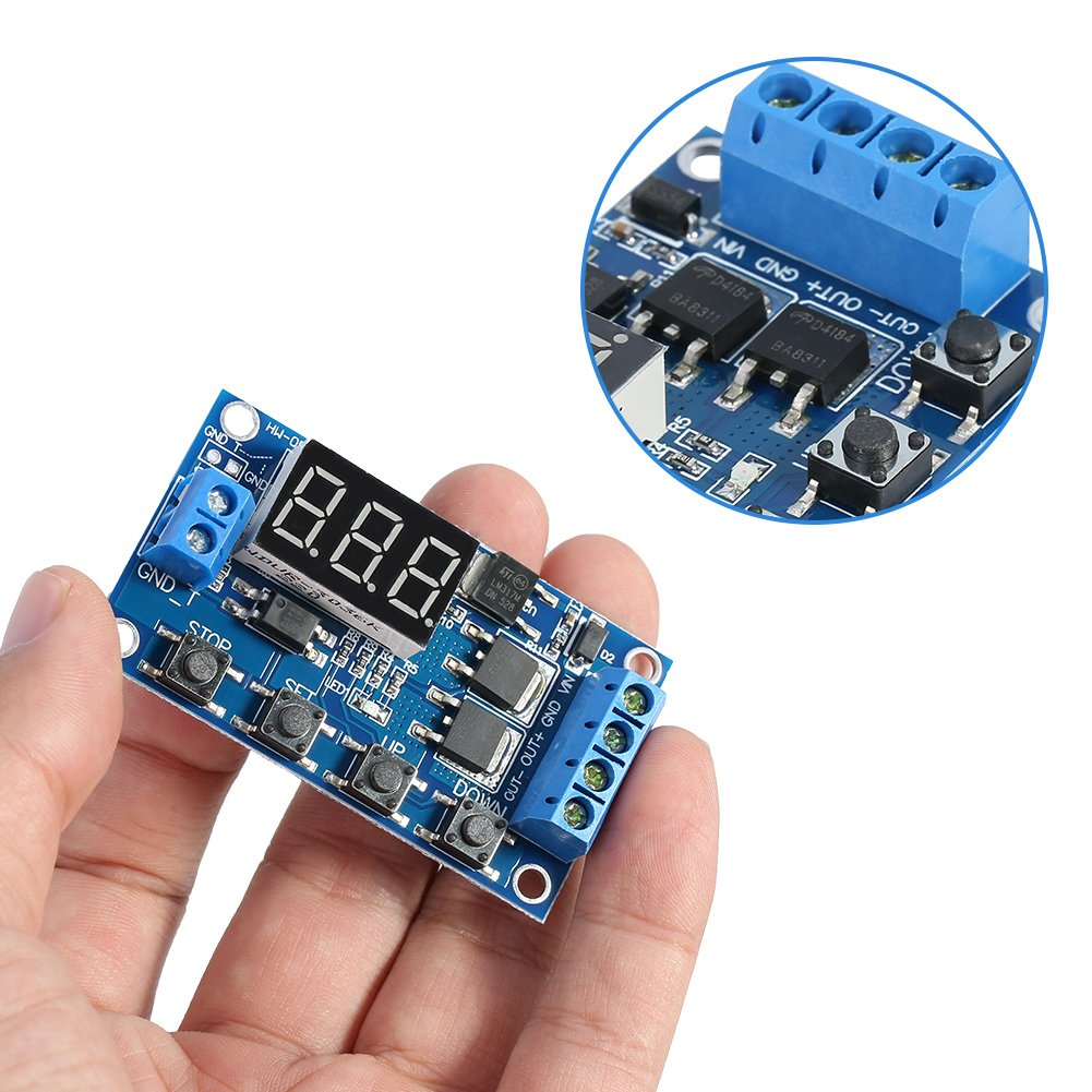 Dc 5 36v Digital Led Relay Board Dual Mos Trigger Cycle Timing Timer Circuit Switch Delay Module Walfront