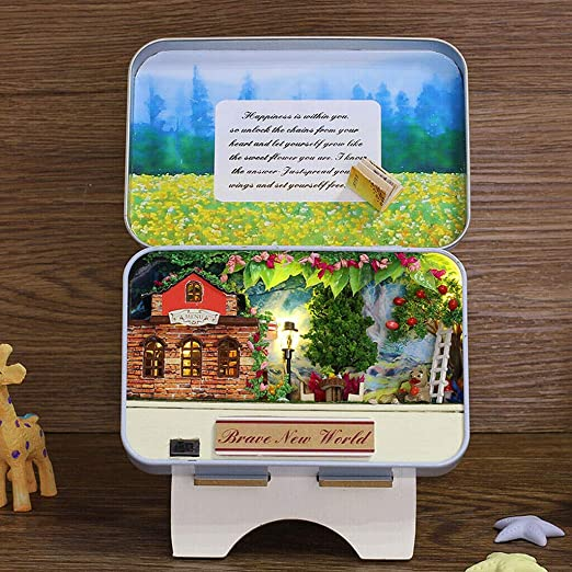 "1:24 Scale Book THE SECRET GARDEN Illustrated Miniature Book Dollhouse 1//2/"""