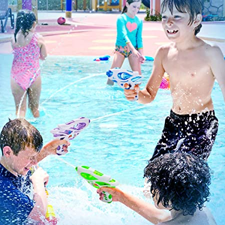 Ucradle Pistola de Agua, 3 Piezas Pistola de Agua Niños Pistola a Spruzzo dacqua Pistola a Spruzzo dacqua Multicolore Juguetes de Verano Caliente para Piscina de Playa para Chico Chica: Amazon.es: Juguetes