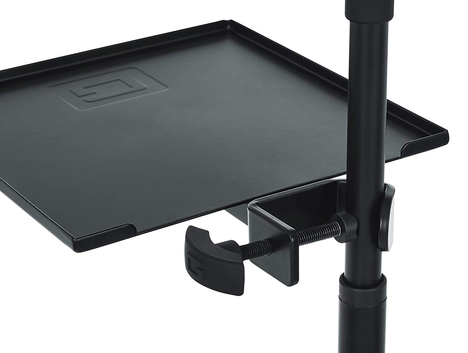 Gator Frameworks Microphone Stand Clamp-On Utility Shelf; 9 x 9 Surface Area with 10 pound Weight Capacity GFW-SHELF0909