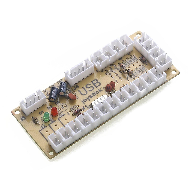 REFURBISHHOUSE 2X Codificador USB Arcade de retardo Cero PC a Palanca de Mando para Palanca de Mando de 5 Pines & 2.8MM Boton: Amazon.es: Electrónica
