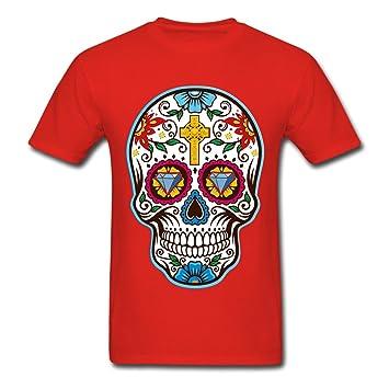 para Hombre Big Camiseta con diseño de Calavera Mexicana para el día de los Muertos,