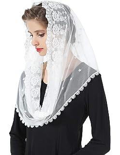 Rob/ó Tri/ángulo Real de Encaje de Raso Blanco de 60 x 80 x 120cm Cat/ólica Mantilla ANGELYK corsets habill/és