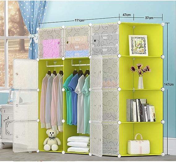 Gran Espacio Armario de Almacenamiento de Gran Capacidad, combinación Simple de armarios de Resina, armarios de Almacenamiento, Armario Plegable para niños Instalación fácil (Color : C): Amazon.es: Hogar