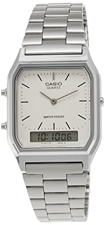 bd8053972112 Image Unavailable. Image not available for. Colour  Casio Vintage Series  Analog-Digital White Dial Men s Watch ...