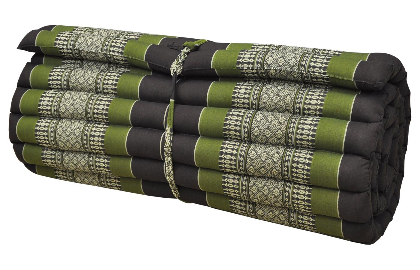 Noinoi@roll up Thai Mattress Kapok (Large, Green-Brown) by thai mattress