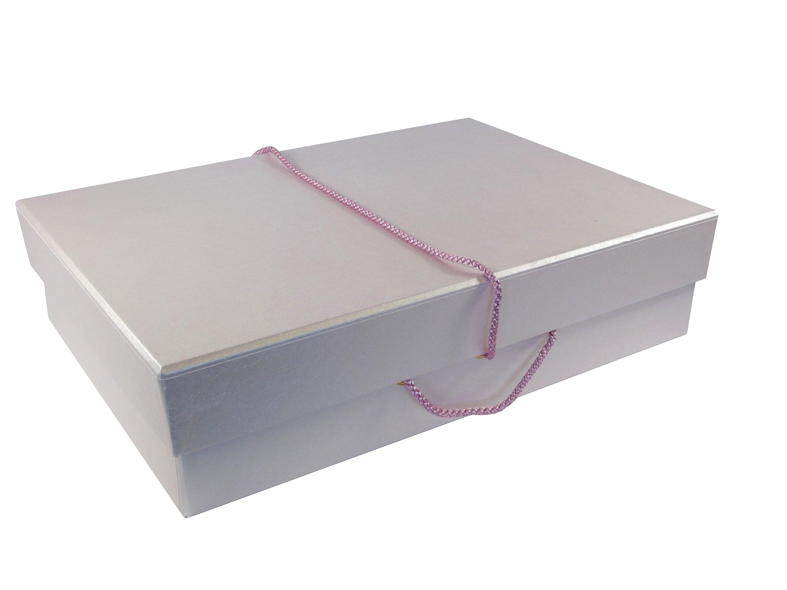Colorful Wedding Dress Storage & Travel Box Quartz Pale Pink Medium by Foster-Stephens, inc