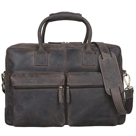 a8266a8a3dbe0 STILORD  Ben  Vintage Businesstasche Leder groß Unisex Umhängetasche ...