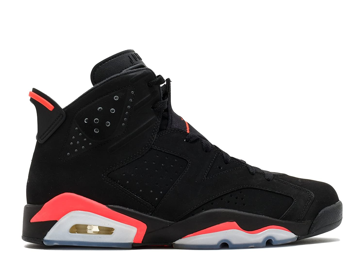 8e0c567fb93 Jordan Unisex Black Air 6 Retro Infrared Shoes -13.5 M: Amazon.in:  Electronics