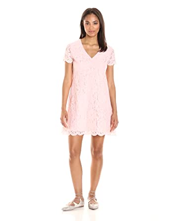 528b8ebcfeca Amazon.com  PARIS SUNDAY Women s Short Sleeve A-Line Dress  Clothing