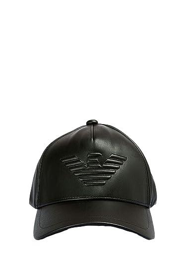 Emporio Armani Cappello uomo berretto 627507 8A557 00020 nero ecopelle   Amazon.it  Abbigliamento 4501ce0468d