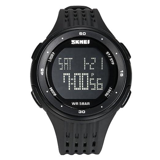 Lancardo Reloj Deportivo Digital de Dual Tiempo Multifunciones de Cronómetro Cuenta Atrás Alarma Pulsera Electrónica con