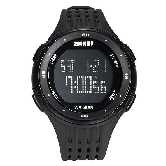 avaner Reloj niño Reloj Pulsera electrónica 50 M Impermeable Reloj Digital Correa de plástico Reloj Sport para Garcon: Amazon.es: Relojes