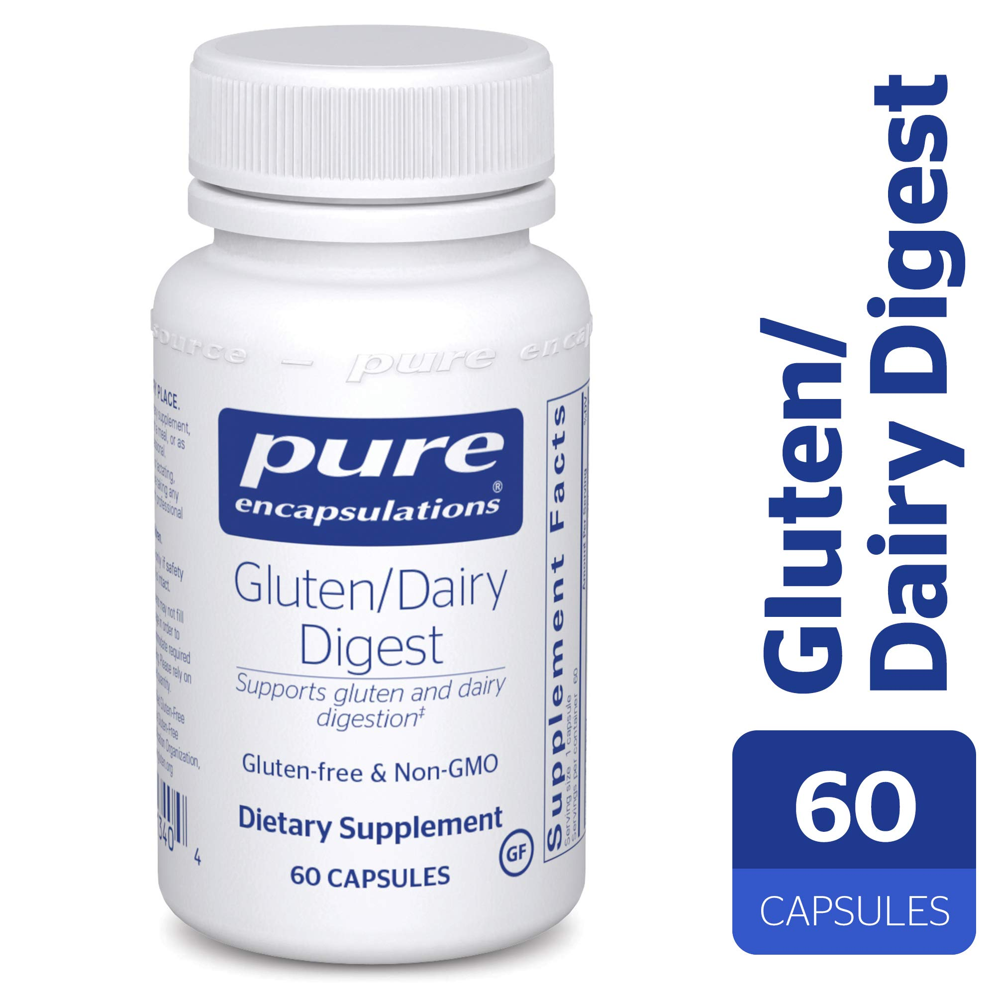 Pure Encapsulations - Gluten/Dairy Digest - Dietary Supplement Enzyme Blend for Healthy Gluten and Dairy Digestion* - 60 Capsules by Pure Encapsulations