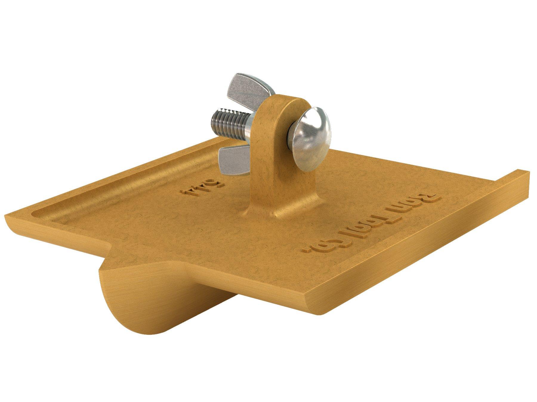 Bon 12-544 6-Inch by 4-1/2-Inch Bronze Walking Concrete Groover, 3/4-Inch Bit Depth, 7/8-Inch Bit Width