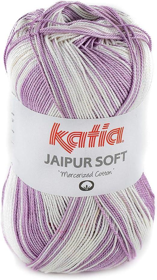 Sibylles Katia Jaipur Soft - Ovillo de Lana (50 g, 100% algodón ...