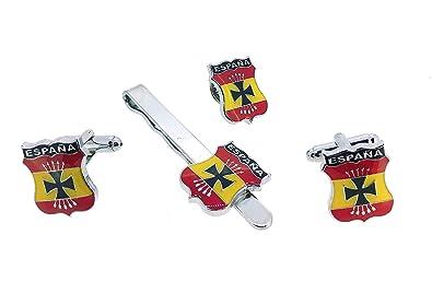 Pack Gemelos de Camisa Pasador de Corbata y Pin de Solapa Emblema ...