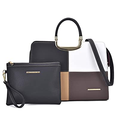 Women s Fashion Lightweight Briefcase Designer Satchel Tote Top Handle  Shoulder Bags Work Bags Fit 13 Inch iPad Laptop Matching Wallet bf490f8da5b81