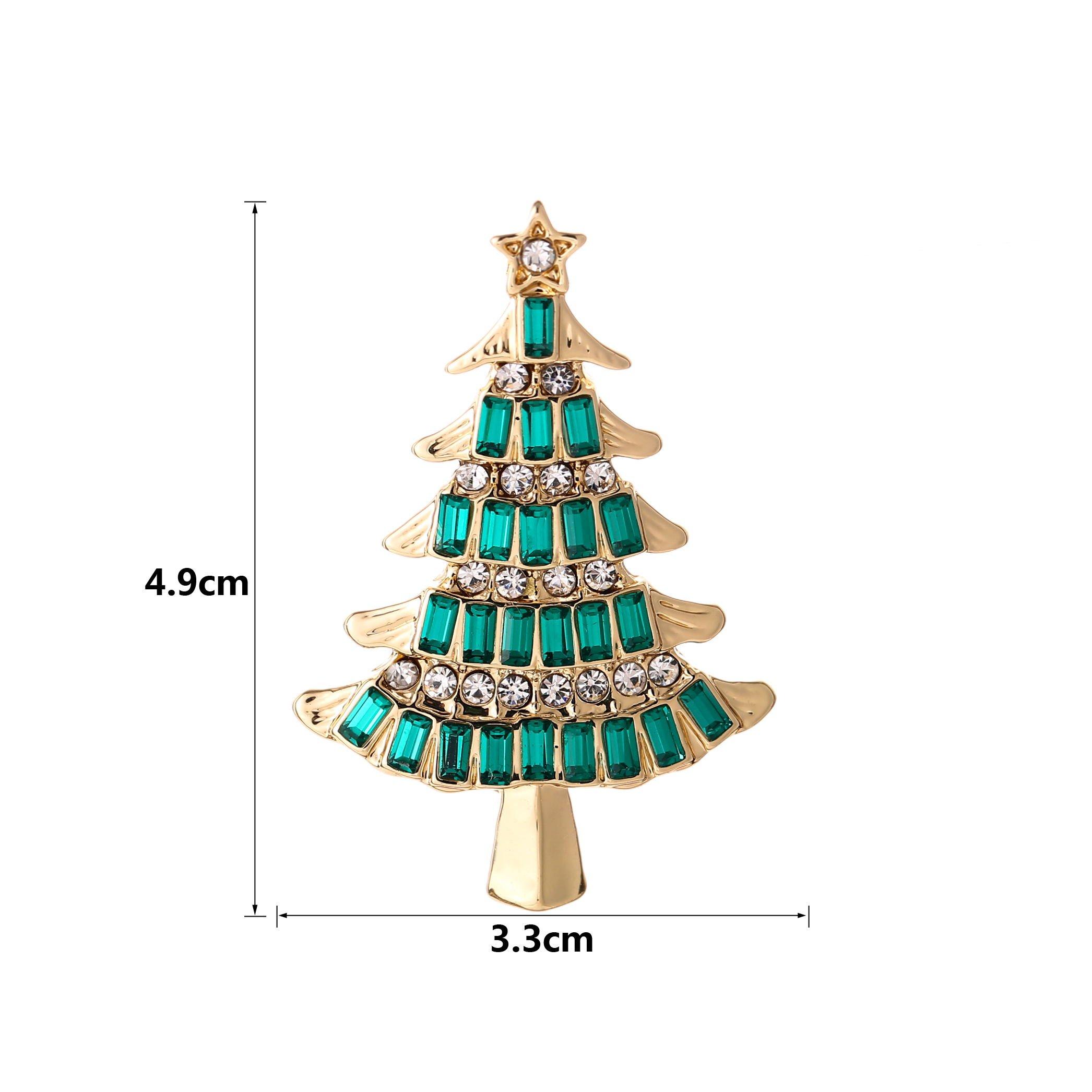 YSD Christmas Brooch Pins set Holiday Brooch Xmas Pin Lot Party Favor set christmas tree pins set by YSD (Image #2)