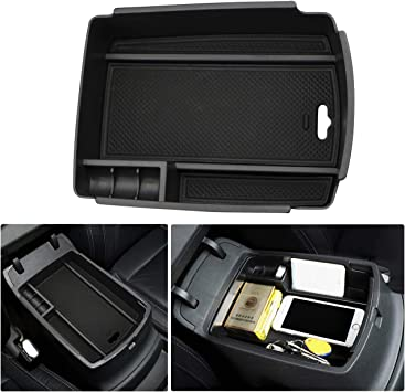 YEE PIN Center Console Organizer Tray Armrest Box Secondary Storage Insert ABS Materials Tray Compatible with Kia Sportage QL KX5 2016-2019