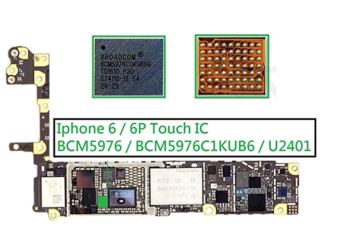 buy online b4e6a 77fba BCM5976 BCM5976C1KUB6 U2401 White Touch Screen & Digitizer ...