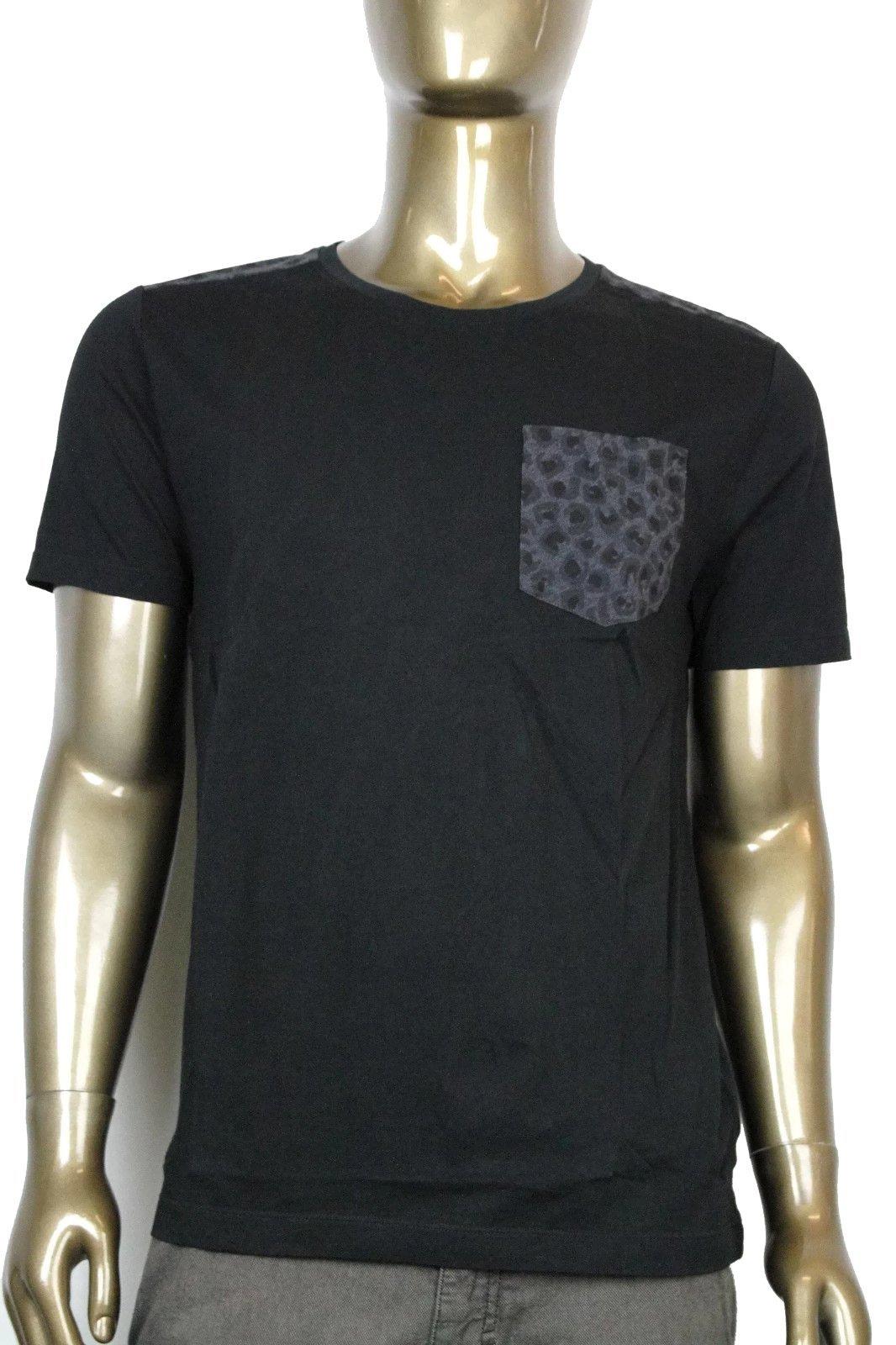 Gucci Men's Black Cotton With Leopard Print T Shirt 354513 1000 (2XL) by Gucci (Image #1)