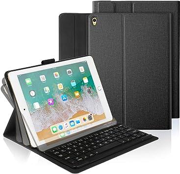 CoastaCloud iPad Pro 10.5/iPad Air 3 10.5/iPad 2019 10.2 Funda con Teclado Bluetooth,iPad Funda Protectora con Teclado Inalambrico QWERTY Español para ...