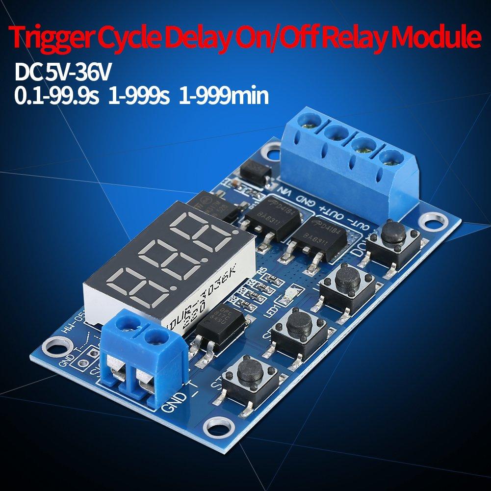 36V Timer Module Trigger Cycle Timer Switch Attiva//disattiva il modulo rel/è con display a LED DC 5V