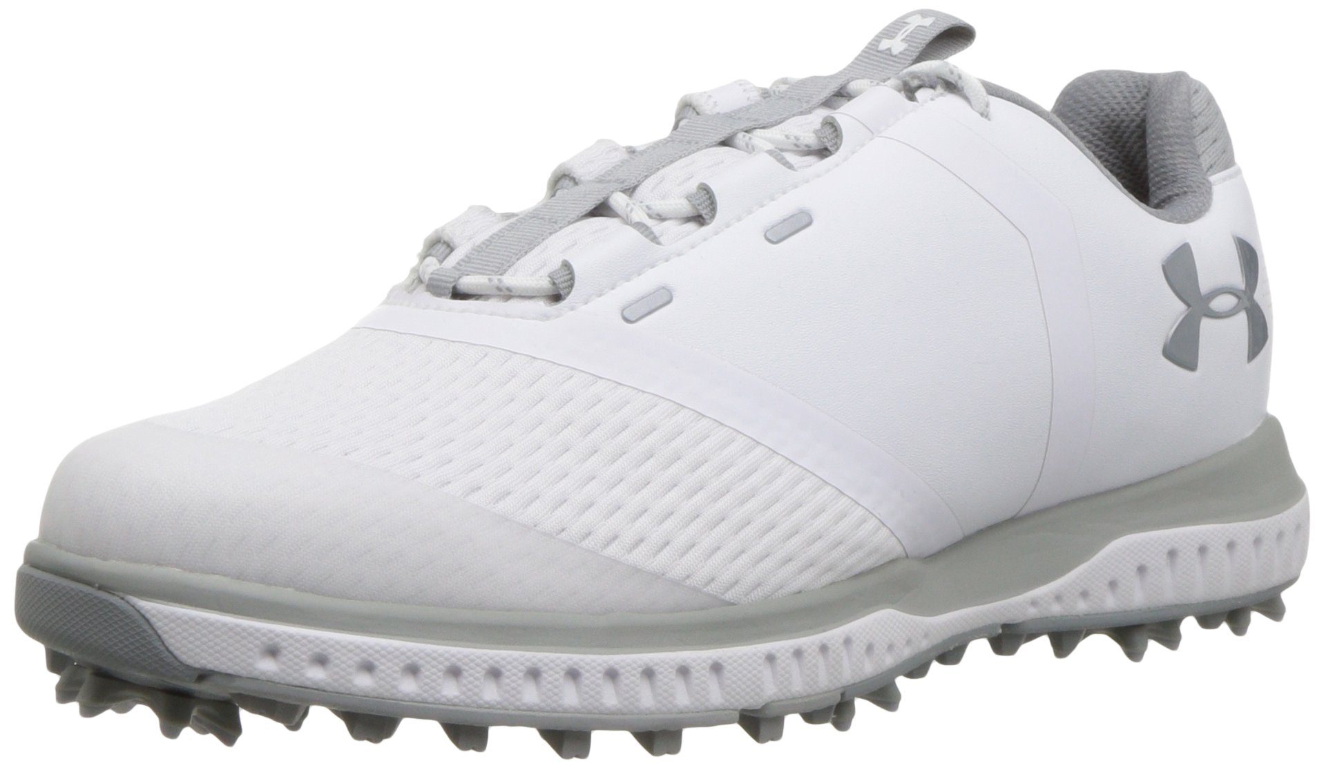 Under Armour Women's Fade RST Golf Shoe, White (102)/Overcast Gray, 10
