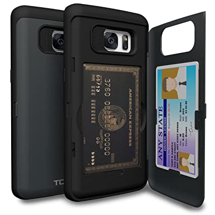 amazon com toru cx pro galaxy s7 edge wallet case dark blue with