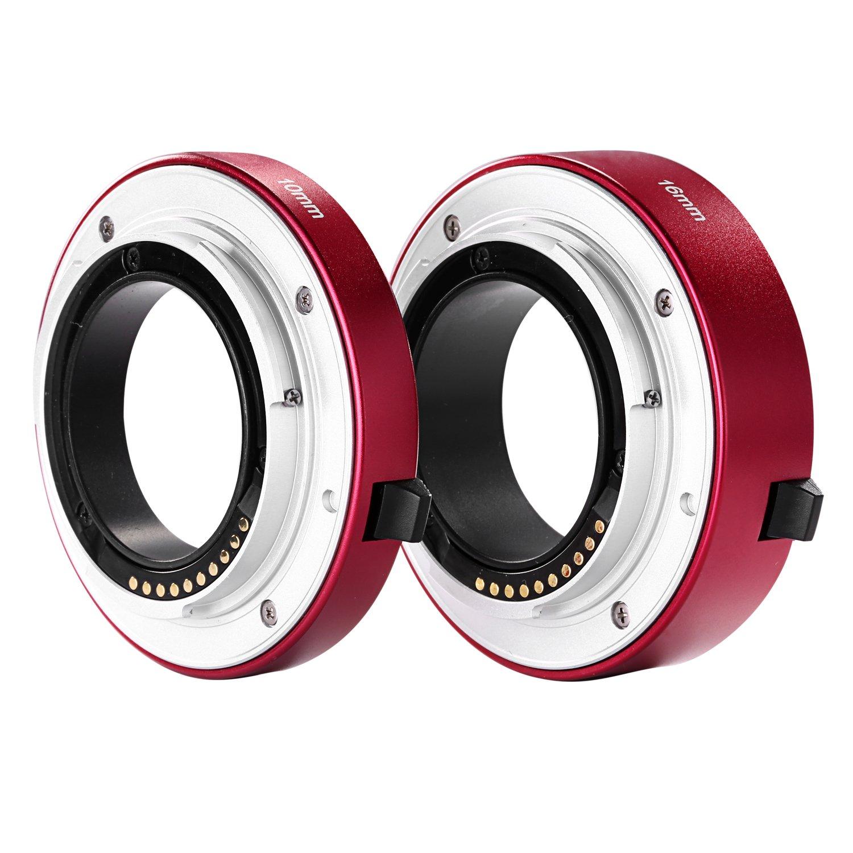 Neewer All-metal Auto-focus Macro Extension Tube Set 10mm&16mm for SONY E-mount Mirrorless Camera NEX 3/3N/5/5N/5R/A6000/A6300 and Full Frame A7 A7S/A7SII A7R/A7RII A7II Blue B01JIJNPMI