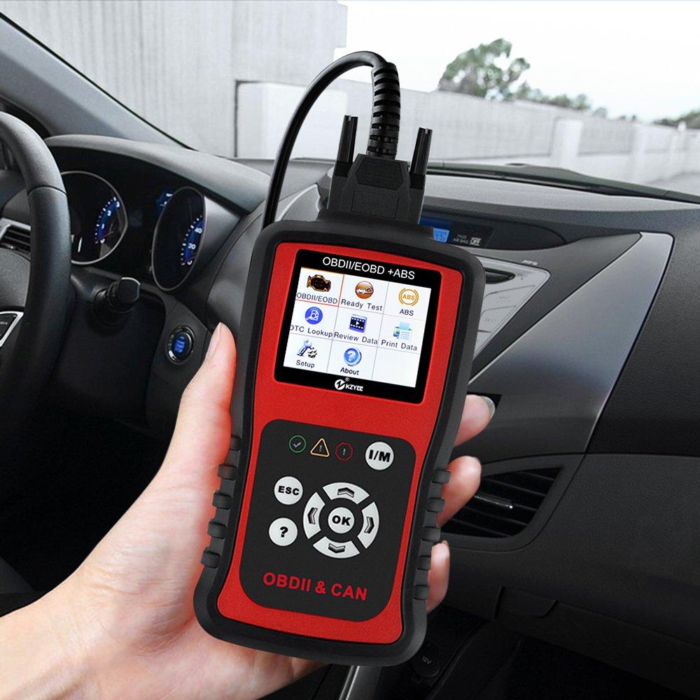 KZYEE KC401 OBDII Lector de Código OBD2 Auto Escáner Diagnóstico Dispositivo Code Scanner Reader ABS Leer y Claros Códigos CAN Bus J1850 VPW ISO 9141-2 ...