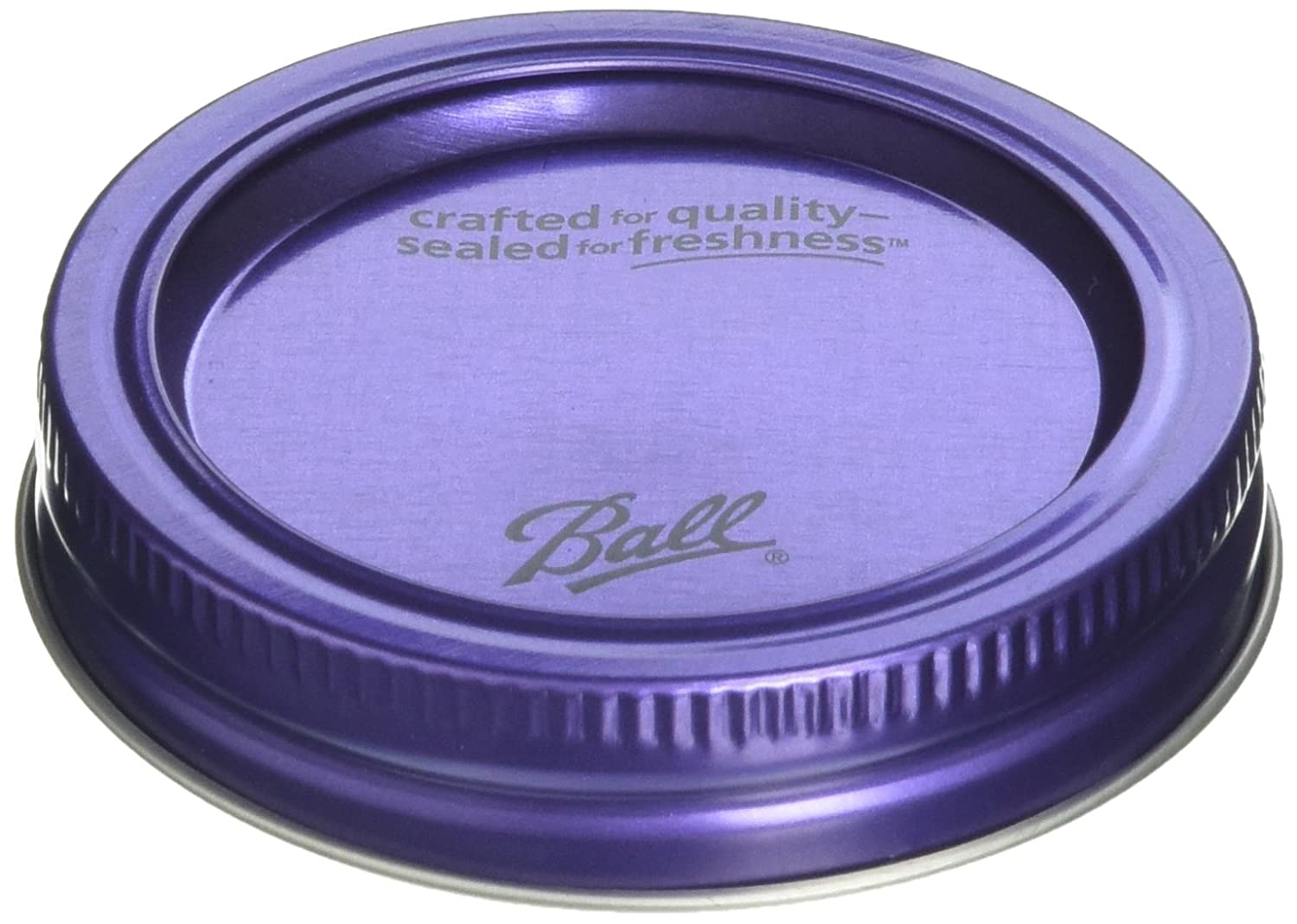 Ball Design Series Lids and Bands (6 lids and bands) Purple. BPA Free Loew-Cornell 30030