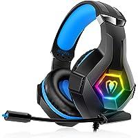 Auriculares para Videojuegos para PS4, PS5, PC, Xbox One, PS4, Auriculares con micrófono, Sonido Envolvente 3D…