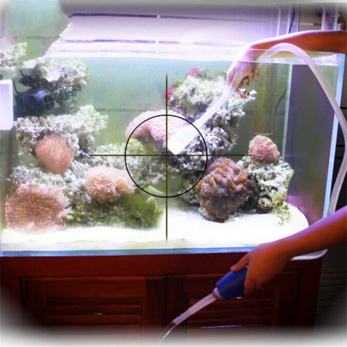 Accesorios para la limpieza del acuario, Limpiador universal para cachimba, Acuario Limpiador de grava para acuario, Filtro de agua, Limpiador de grava ...