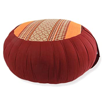 Avran Kapok Floor Zafu Pillow for Meditation and Yoga, 15 Inch (15 Inch, Red)