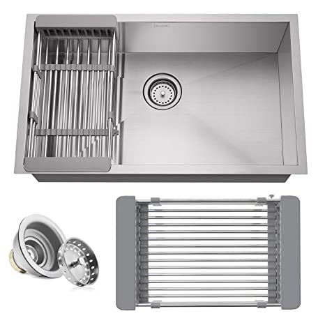 Amazon.com: Miligoré - Fregadero de cocina de acero ...