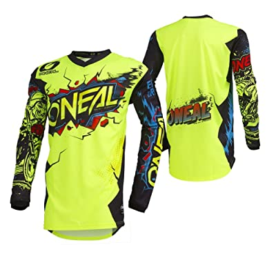 O'Neal 001E-904 Men's Element Villain Jersey (Neon Yellow, Large): Automotive