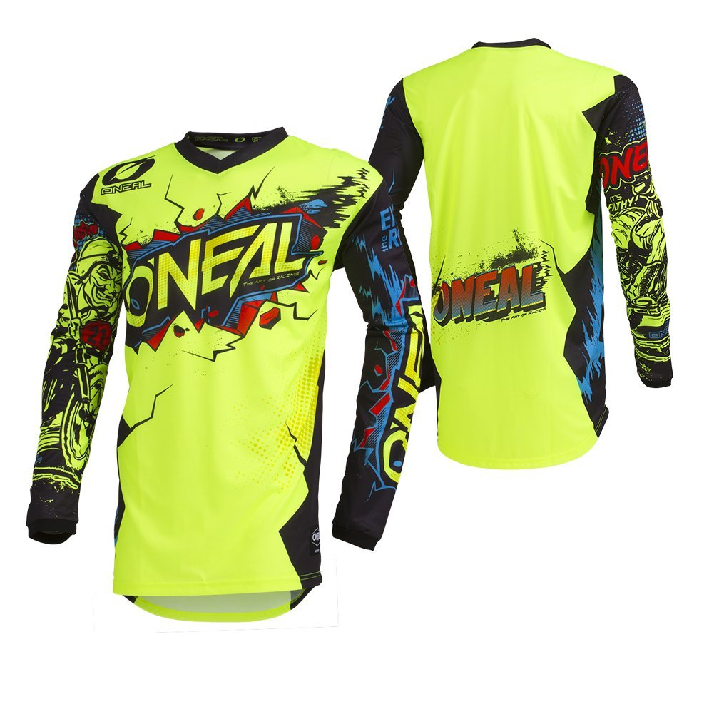 O'Neal Unisex-Child Youth Element Jersey (VILLAIN) (Neon Yellow, X-Large) by O'Neal