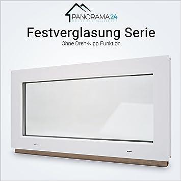 FIB 2 Fach Verglasung Kunststoff BxH: 60x50 cm Breite: 60 cm Wei/ß Kellerfenster Festverglasung Premium
