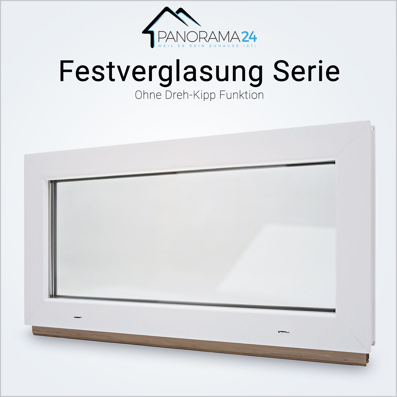 Kellerfenster BxH: 120x60 cm FIB - wei/ß 60mm Profil Festverglasung verschiedene Ma/ße schneller Versand Kunststoff 2-fach-Verglasung